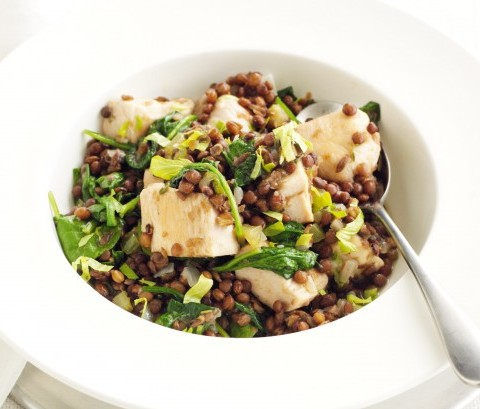 Braised Chicken with Spinach and Lentils - GetFit Travel