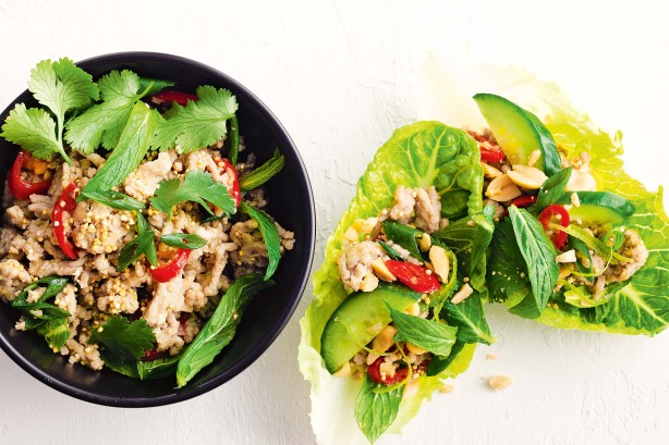 Pork Lemongrass and Toasted Quinoa Larb