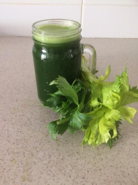 Green Juice - Celery, Cucumber, Spinach, Zucchini - Diet & Nutrition